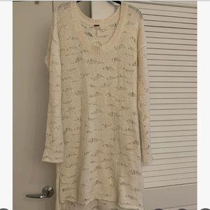 White Free People Sweater Dress